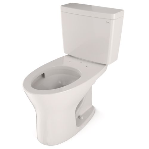 """Drake Two-Piece Dual-Flush Elongated Toilet with CEFIONTECT - Colonial White (27.38"""" x 28.88"""" x 17.31"""")"""