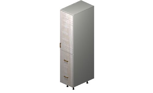 """Cortina Oyster Shell 15"""" x 71.25"""" x 24"""" 1 Door, 2 Drawers Tall Cabinet"""
