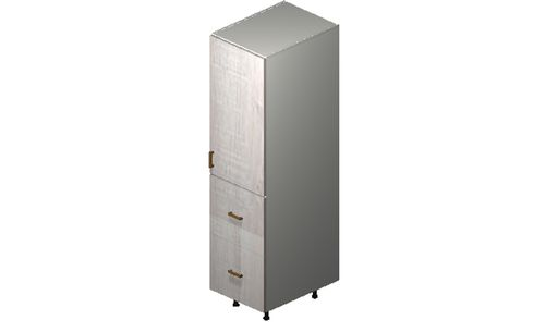"""Cortina Oyster Shell 18"""" x 71.25"""" x 24"""" 1 Door, 2 Drawers, 1 Inner Drawer Tall Cabinet"""
