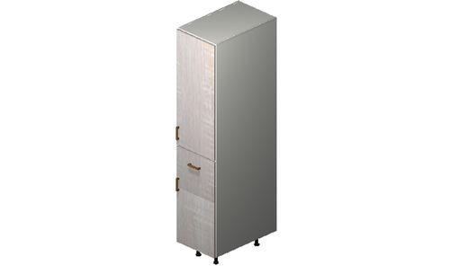 """Cortina Oyster Shell 15"""" x 71.25"""" x 24"""" 2 Door, 1 Drawer Tall Cabinet"""