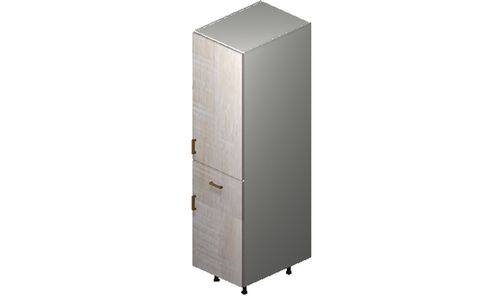 """Cortina Oyster Shell 18"""" x 71.25"""" x 24"""" 2 Door, 1 Drawer Tall Cabinet"""