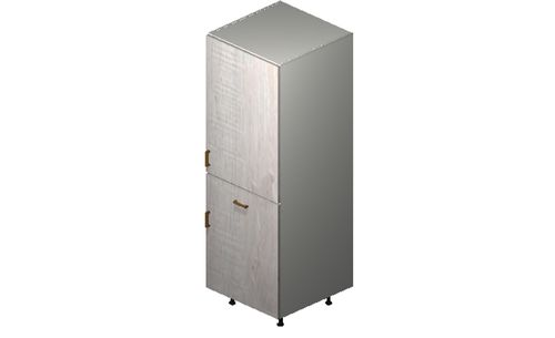 """Cortina Oyster Shell 24"""" x 71.25"""" x 24"""" 2 Doors, 1 Drawer Tall Cabinet"""
