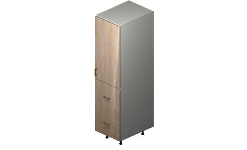 """Cortina Conch Shell 18"""" x 71.25"""" x 24"""" 1 Door, 2 Drawers Tall Cabinet"""