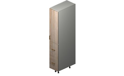 """Cortina Conch Shell 12"""" x 71.25"""" x 24"""" 1 Door, 2 Drawers, 1 Inner Drawer Tall Cabinet"""