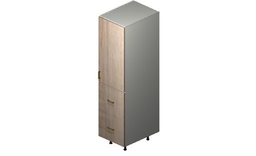 """Cortina Conch Shell 18"""" x 71.25"""" x 24"""" 1 Door, 2 Drawers, 1 Inner Drawer Tall Cabinet"""