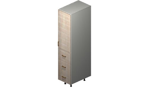 """Cortina Conch Shell 15"""" x 71.25"""" x 24"""" 1 Door, 3 Drawers Tall Cabinet"""