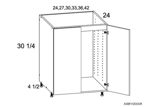 """Marquis White Pine 30"""" x 34.75"""" x 24"""" Sink 2 Full-Height Doors Base Cabinet"""