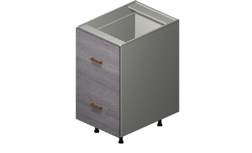 """Marquis Grey Wood 18"""" x 34.75"""" x 24"""" 2 Drawers, 1 Inner Drawer Base Cabinet"""