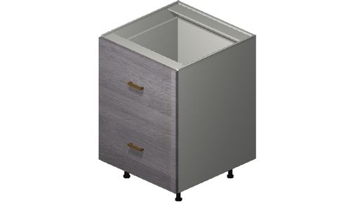 """Marquis Grey Wood 24"""" x 34.75"""" x 24"""" 2 Drawers, 1 Inner Drawer Base Cabinet"""