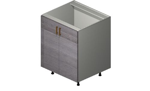 """Marquis Grey Wood 27"""" x 34.75"""" x 24"""" 2 Full-Height Doors Base Cabinet"""