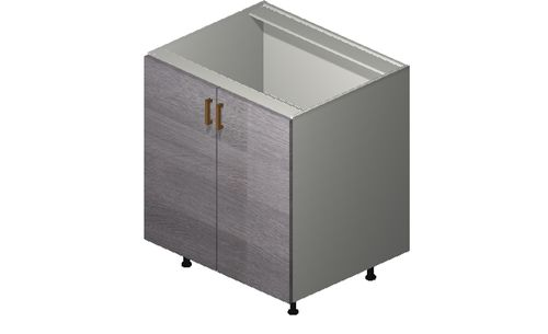 """Marquis Grey Wood 30"""" x 34.75"""" x 24"""" 2 Full-Height Doors Base Cabinet"""