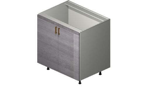 """Marquis Grey Wood 33"""" x 34.75"""" x 24"""" 2 Full-Height Doors Base Cabinet"""