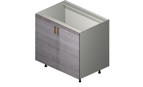 """Marquis Grey Wood 36"""" x 34.75"""" x 24"""" 2 Full-Height Doors Base Cabinet"""