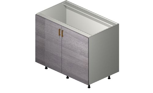"""Marquis Grey Wood 42"""" x 34.75"""" x 24"""" 2 Full-Height Doors Base Cabinet"""