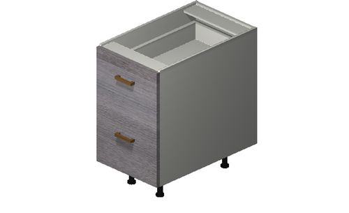 """Marquis Grey Wood 15"""" x 27.13"""" x 24"""" Desk 2 Drawers Base Cabinet"""