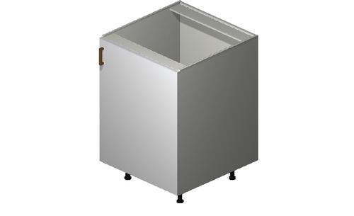 """Monte Carlo Gloss White 24"""" x 34.75"""" x 24"""" Sink 1 Full-Height Door Base Cabinet"""