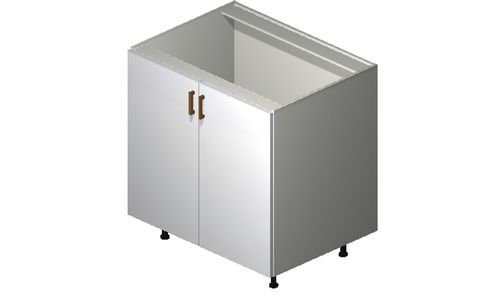 """Monte Carlo Gloss White 33"""" x 34.75"""" x 24"""" Sink 1 Full-Height Door Base Cabinet"""