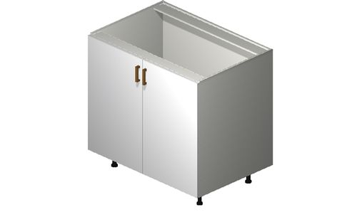 """Monte Carlo Gloss White 36"""" x 34.75"""" x 24"""" Sink 1 Full-Height Door Base Cabinet"""