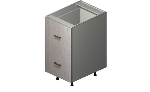 """Cortina Oyster Shell 18"""" x 34.75"""" x 24"""" 2 Drawers Base Cabinet"""
