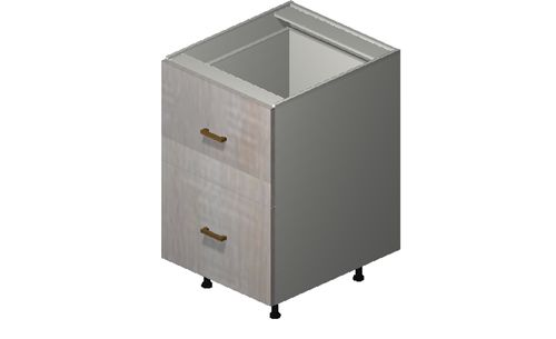 """Cortina Oyster Shell 21"""" x 34.75"""" x 24"""" 2 Drawers Base Cabinet"""