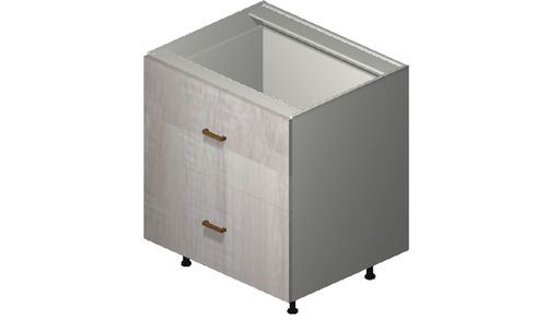 """Cortina Oyster Shell 30"""" x 34.75"""" x 24"""" 2 Drawers Base Cabinet"""