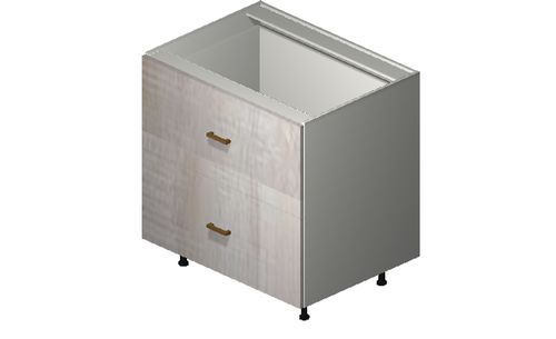 """Cortina Oyster Shell 33"""" x 34.75"""" x 24"""" 2 Drawers Base Cabinet"""