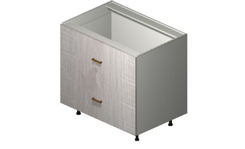 """Cortina Oyster Shell 36"""" x 34.75"""" x 24"""" 2 Drawers Base Cabinet"""