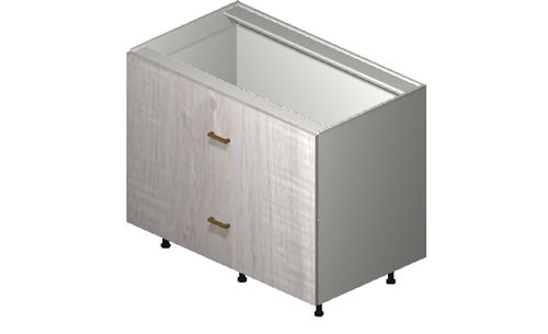 """Cortina Oyster Shell 42"""" x 34.75"""" x 24"""" 2 Drawers Base Cabinet"""