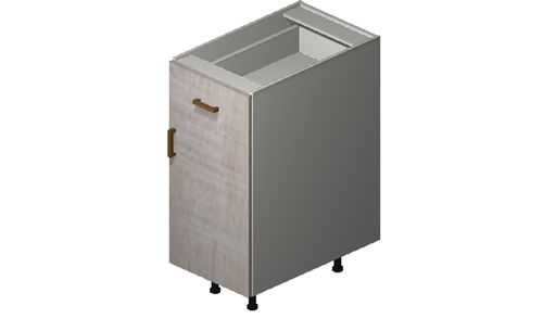 """Cortina Oyster Shell 15"""" x 34.75"""" x 24"""" 1 Door, 1 Drawer Base Cabinet"""