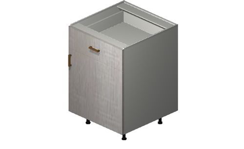 """Cortina Oyster Shell 24"""" x 34.75"""" x 24"""" 1 Door, 1 Drawer Base Cabinet"""