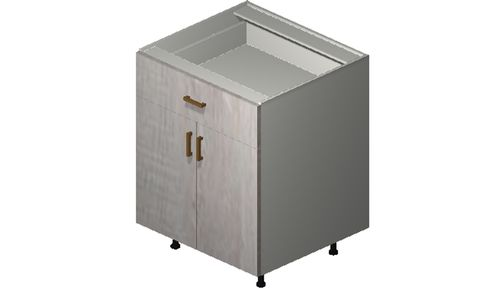 """Cortina Oyster Shell 27"""" x 34.75"""" x 24"""" 2 Doors, 1 Drawer Base Cabinet"""