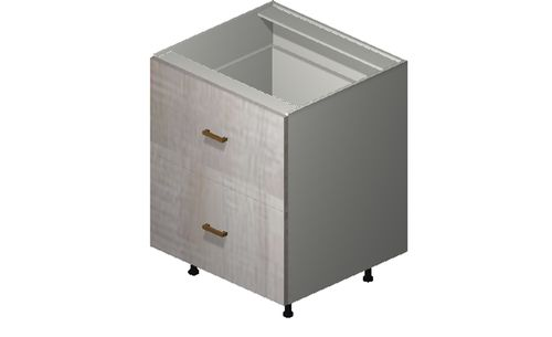 """Cortina Oyster Shell 27"""" x 34.75"""" x 24"""" Range Top 2 Drawers Base Cabinet"""