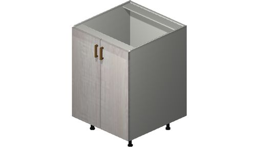 """Cortina Oyster Shell 24"""" x 34.75"""" x 24"""" Sink 2 Full-Height Doors Base Cabinet"""