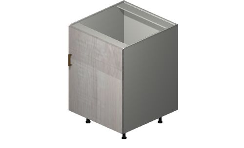 """Cortina Oyster Shell 24"""" x 34.75"""" x 24"""" Sink 1 Door, 1 False Drawer Base Cabinet"""
