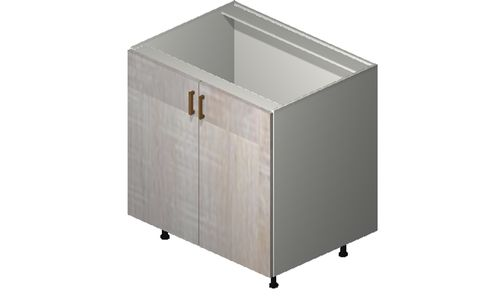 """Cortina Oyster Shell 33"""" x 34.75"""" x 24"""" Sink 1 Full-Height Door Base Cabinet"""