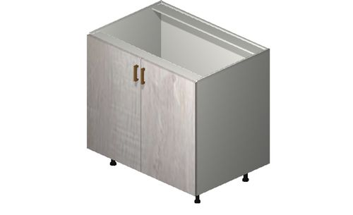 """Cortina Oyster Shell 36"""" x 34.75"""" x 24"""" Sink 1 Full-Height Door Base Cabinet"""