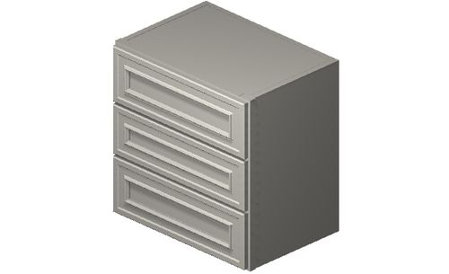 """Wildwood Antique White 18"""" x 18"""" x 12"""" 3 Drawers Wall Cabinet"""