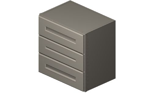 """Shaker Dove 18"""" x 18"""" x 12"""" 3 Drawers Wall Cabinet"""