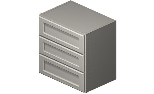 """Shaker Antique White 18"""" x 18"""" x 12"""" 3 Drawers Wall Cabinet"""