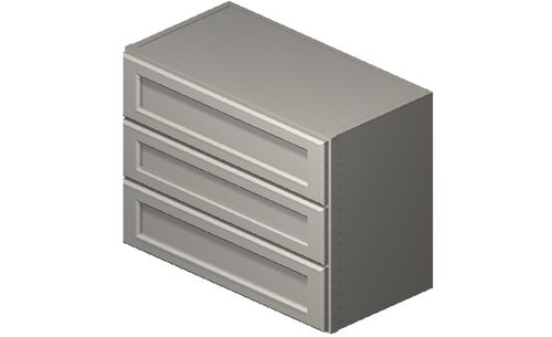 """Shaker Antique White 24"""" x 18"""" x 12"""" 3 Drawers Wall Cabinet"""