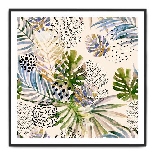 Tropical Leaves Painting on Photo Paper By Teague