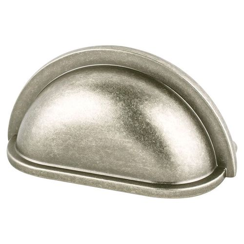 """Advantage Plus Five 3.5"""" Traditional Cup Zinc Cup Pull - Weathered Nickel"""