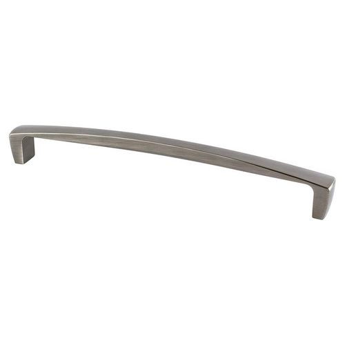 """Aspire 12.44"""" Transitional Zinc Appliance Pull - Brushed Tin"""