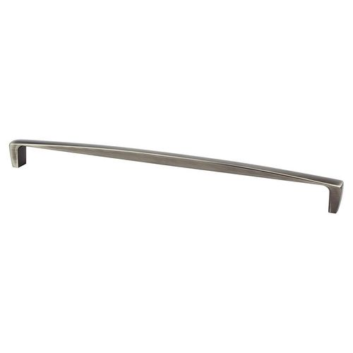 """Aspire 18.38"""" Transitional Zinc Appliance Pull - Brushed Tin"""