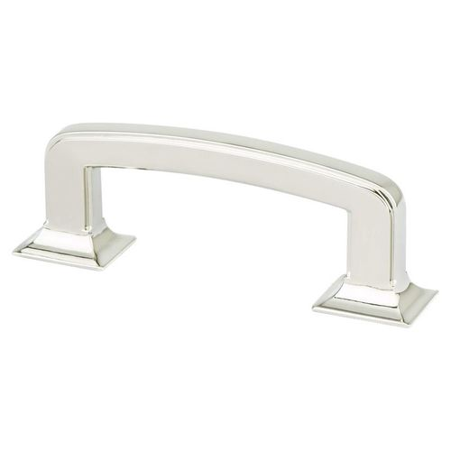 """Designers' Group Ten 3.31"""" Transitional Zinc Pull - Polished Nickel"""