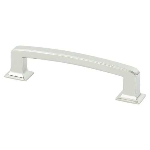 """Designers' Group Ten 6.06"""" Transitional Zinc Pull - Polished Nickel"""