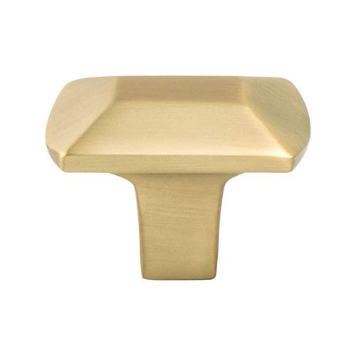 """Berenson  1"""" Wide Contemporary Rectangular Knob in Modern Brushed Gold"""