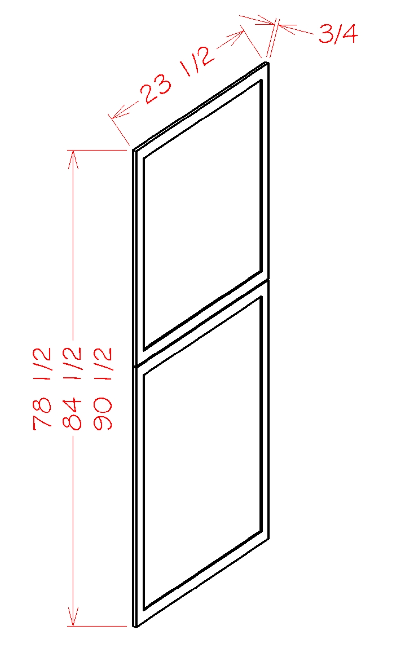 """Shaker White Tall Decorative End Panel (23.5 x 78.5"""" x 0.75"""")"""""""