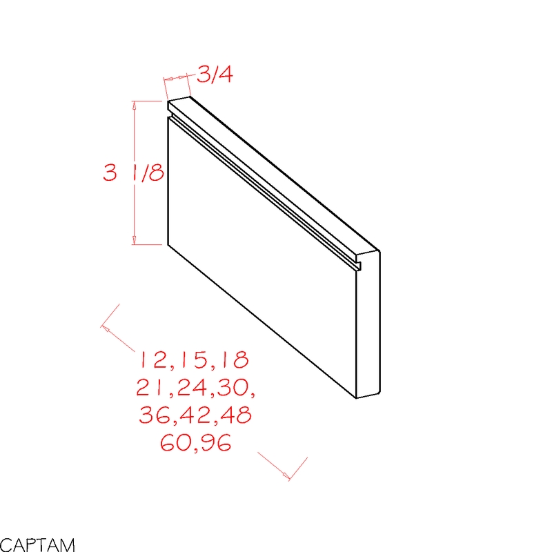 "Cobbleridge White Toe-Kick Apron Molding (4.5 x 21"" x 0.75"")"""