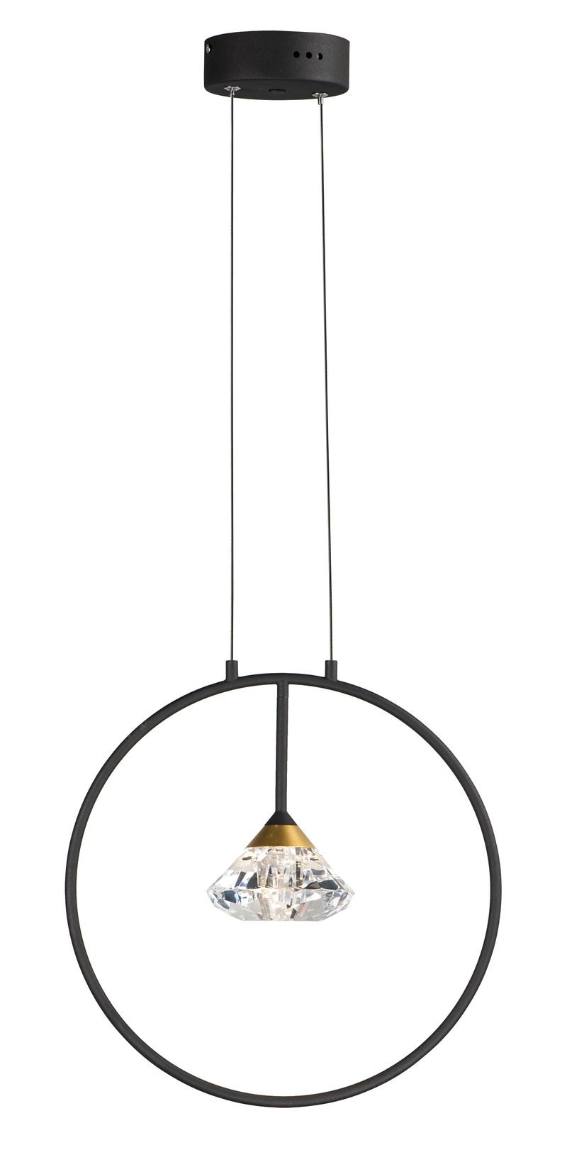 "Hope 4.75"" 1-Light Single Pendant - Black / Metallic Gold"